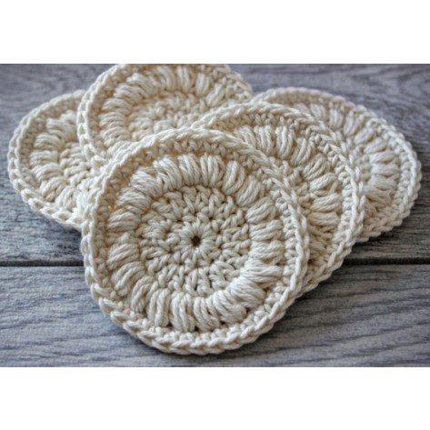 5 Discos de Crochê Demaquilantes Reutilizáveis com Linda Sacolinha