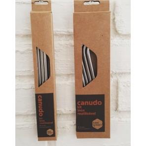 Kit Canudos reutilizáveis de Aço Inox Curvado - BeeGreen