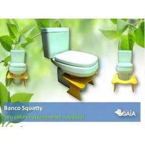 Banco de Cócoras Terapêutico Squatty Branco