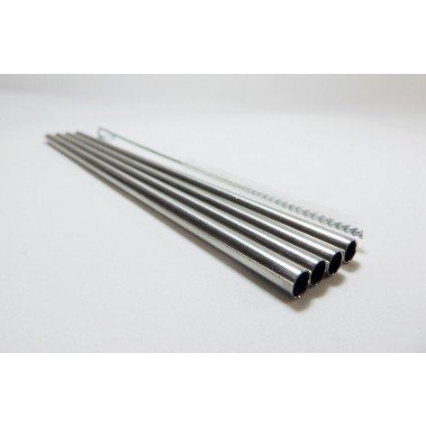 Kit Canudos reutilizáveis de Aço Inox Reto - BeeGreen