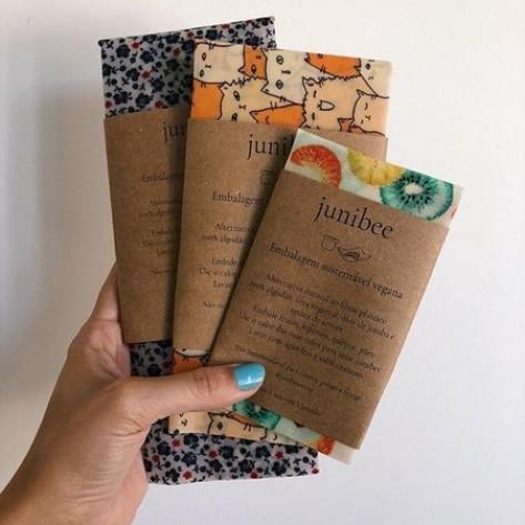 Junibee Embalagem Sustentável e Vegana - Kit com 3 tamanhos