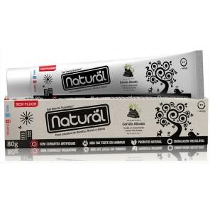 Creme Dental Natural Suavetex com Carvão Ativado, extratos de Bambu, Romã e Sálvia 80 g
