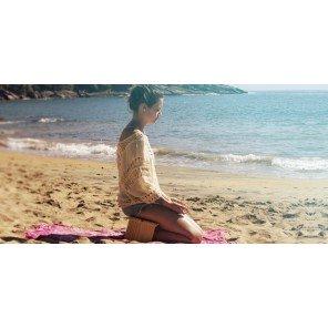 Kit Meditação & Oração - Banco Seiza Dobrável com Sacola